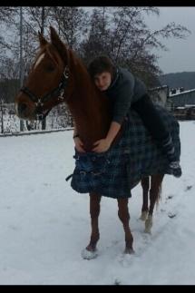 Tahinao et moi dans la neige